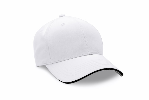 Czapka na białym tle na białym tle. czapka baseballowa.
