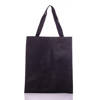 Czarna bawełniana torba.