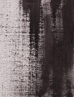 Czarna brązowa akrylowa tekstura namalowana na białym płótnie abstrakcyjnym tle plik skanowania w wysokiej rozdzielczości