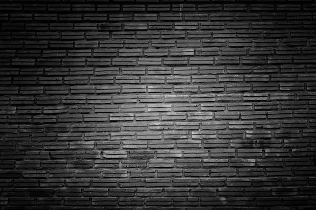 Czarna cegła ściana tekstur. ciemna powierzchnia kamienia, tło dla projektu