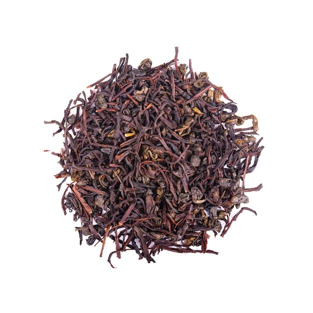 Czarna ceylon herbata z soursop na białym tle