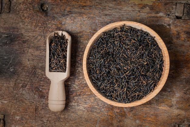 Czarna herbata tle