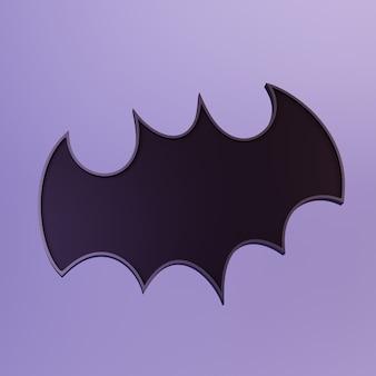 Czarna ikona nietoperza lub sylwetka ilustracja 3d ilustracja 3d