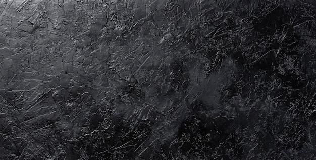 Czarna kamienna tekstura, ciemny łupek, odgórny widok