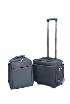 Czarna laptop torba odizolowywająca na bielu