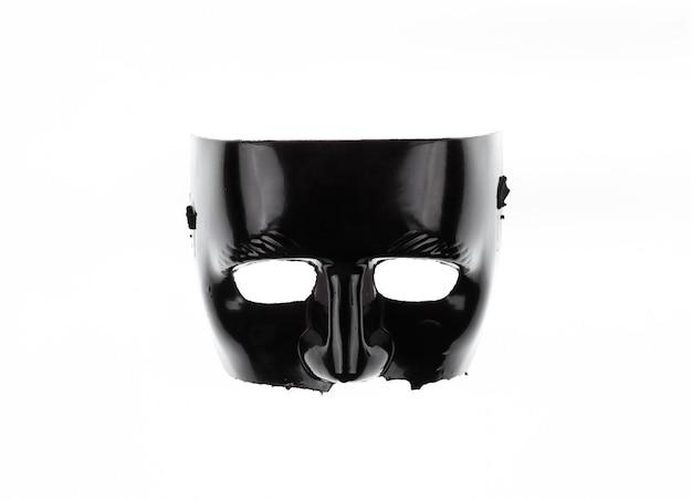 Czarna maska kryminalna na białym tle