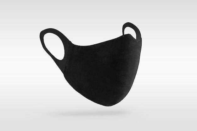 Czarna maska ochronna z tkaniny