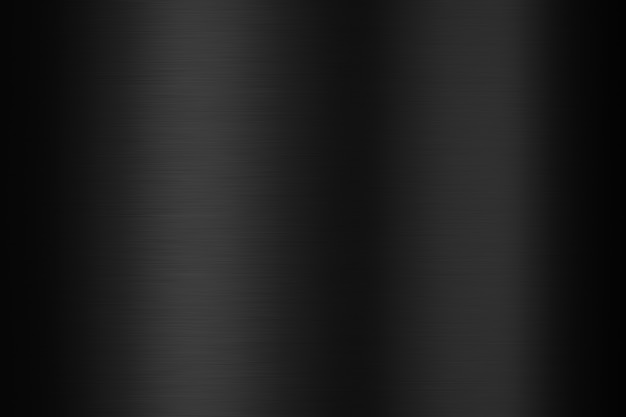 Czarna metalowa płyta stalowa i metaliczna tekstura na ciemnym tle z błyszczącą powierzchnią ze stali nierdzewnej. renderowanie 3d.