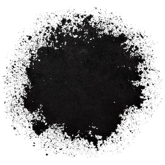 Czarna okrągła plama. streszczenie tło grunge. miejsce na własny tekst