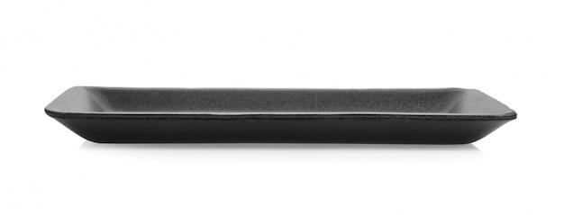 Czarna piankowa taca na białej powierzchni