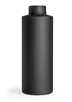 Czarna plastikowa butelka płukanka odizolowywająca
