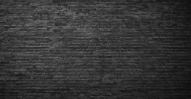 Czarna ściana z cegieł, wysokiej jakości ściana do rozwiązań projektowych