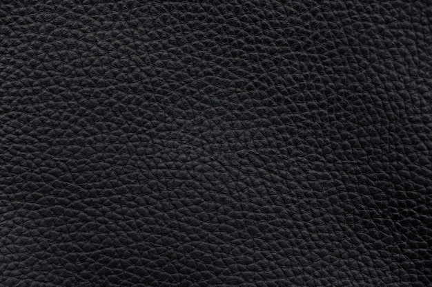 Czarna skóra tekstura wzór powierzchni marco tło