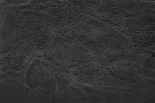 Czarna skóra tekstura wzór.