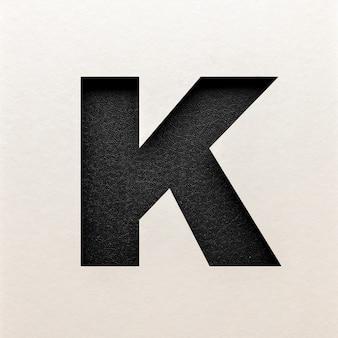 Czarna skórzana czcionka, abstrakcyjna czcionka alfabetu, realistyczna typografia - k.