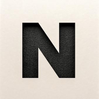 Czarna skórzana czcionka, abstrakcyjna czcionka alfabetu, realistyczna typografia - n.