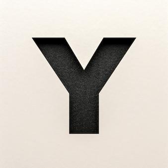Czarna skórzana czcionka, abstrakcyjna czcionka alfabetu, realistyczna typografia - y