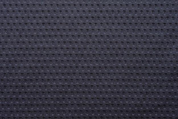 Czarna sportowa koszulka piłkarska z teksturą siateczki powietrznej