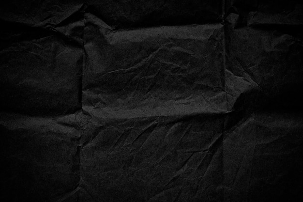Czarna tekstura zmięty tłoczone tło