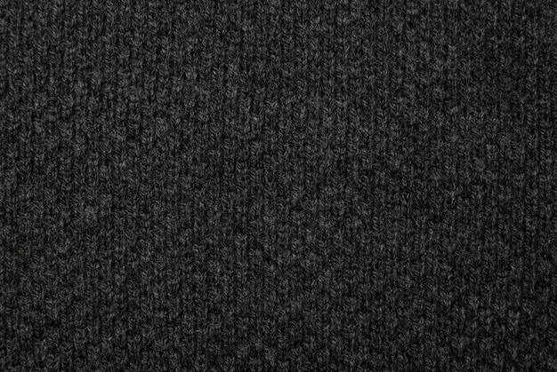 Czarna tkanina tekstura, tło wzór tkaniny.