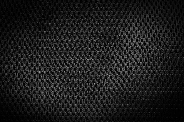 Czarna tkanina tekstura z bliska.
