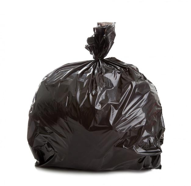 Czarna torba na śmieci
