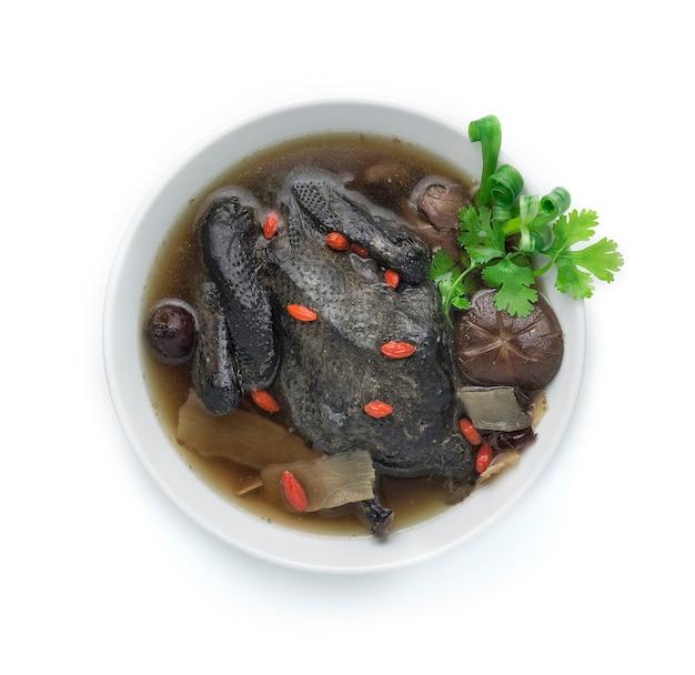 Czarna zupa z kurczaka z chińskimi ziołami