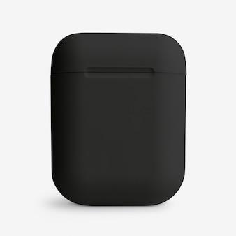 Czarne, bezprzewodowe etui na słuchawki douszne cyfrowe