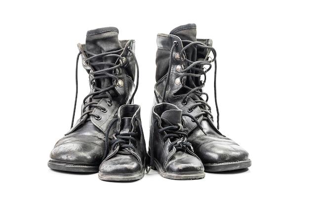 Czarne buty bojowe dla dorosłych i dzieci