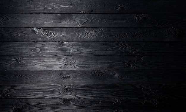 Czarne drewniane, stare drewniane deski tekstury