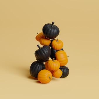 Czarne i pomarańczowe dynie pływające