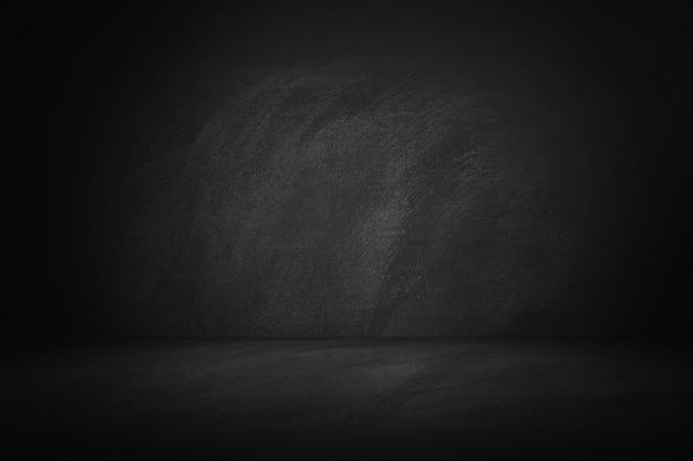 Czarne i tablica studio i tło wewnętrzne do prezentacji produktu