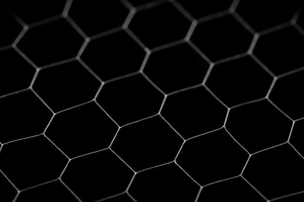 Czarne kółko w tle. stalowa kratka, tekstura czarna siatka.