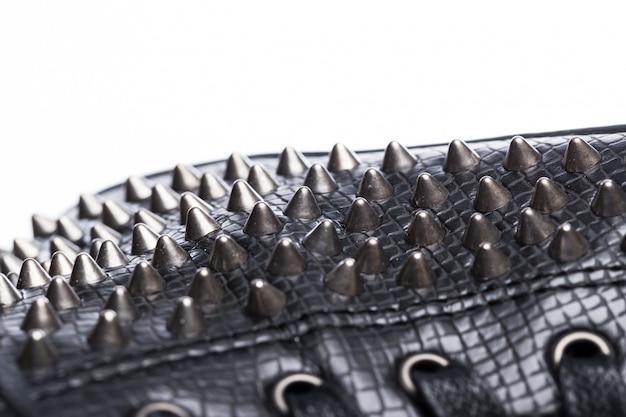 Czarne modne półbuty gumowe