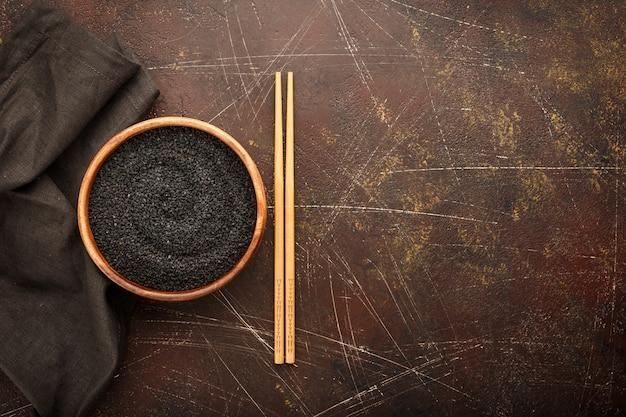 Czarne nasiona sezamu