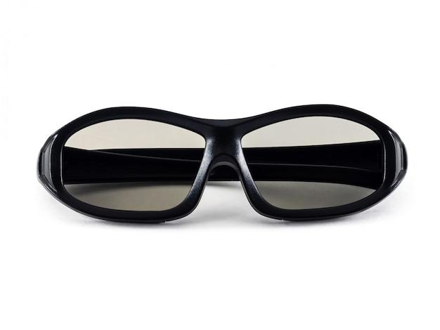 Czarne okulary 3d