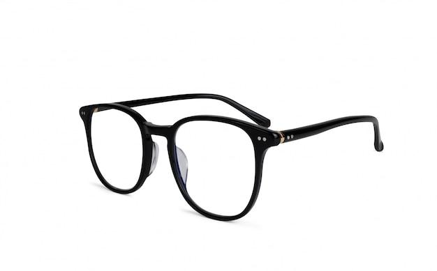 Czarne plastikowe okulary