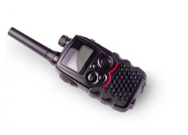 Czarne przenośne radio z anteną