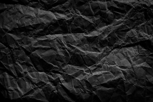 Czarne tekstury zmięty tłoczone tło