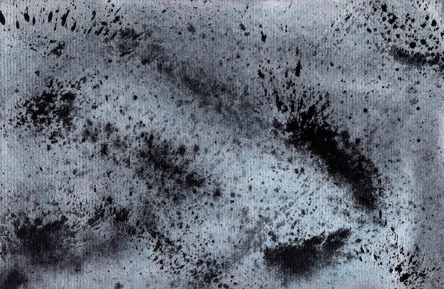 Czarne tło akwarela - plamy i plamami