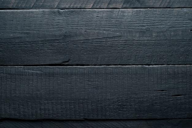 Czarne tło drewna. ciemne drewniane tekstury