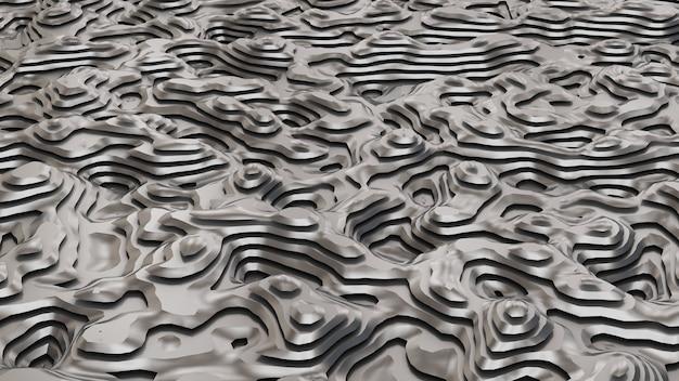 Czarne tło metalowe z liniami. ilustracja, renderowanie 3d.