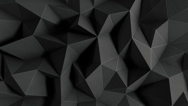 Czarne tło o wielokątnych kształtach