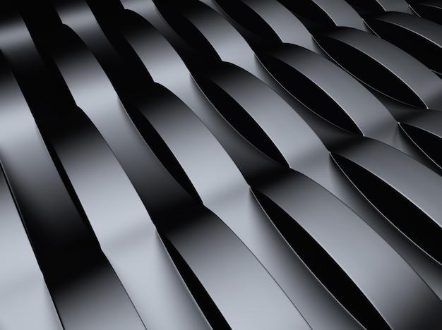 Czarne tło przemysłowe metalowe z okrągłymi elementami