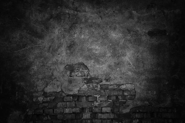 Czarne tło ściany, streszczenie ciemna tekstura dla projektu