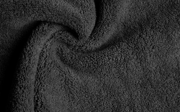Czarne Tło Tekstury Tkaniny, Abstrakcyjne Premium Zdjęcia