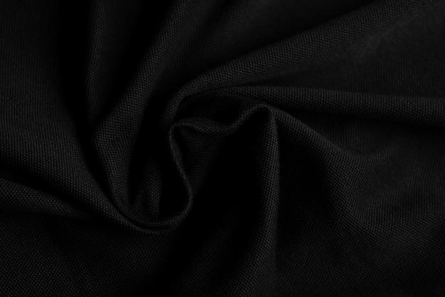 Czarne tło tekstury tkaniny, abstrakcyjne