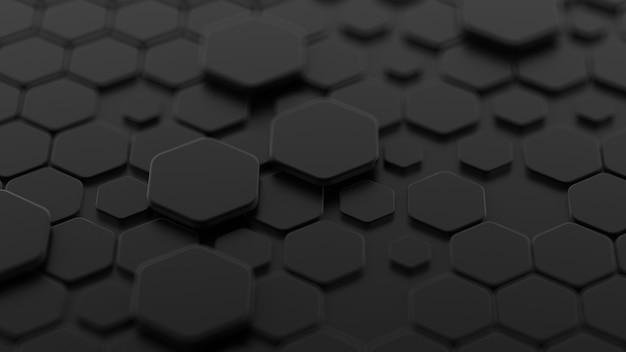 Czarne tło z sześciokątów