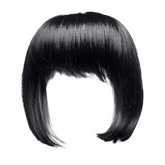 Czarne włosy odizolowane