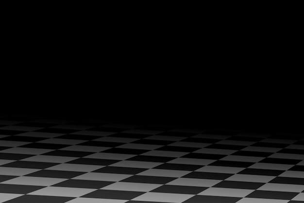 Czarno-białe abstrakcyjne tło wyścigów stylizowane podobnie do flagi wyścigowej w szachownicę